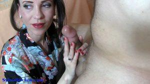 Majestic Treatment. Oriental Handjob & Cock Slapping Titjob. Close Up – Sylvia Chrystall