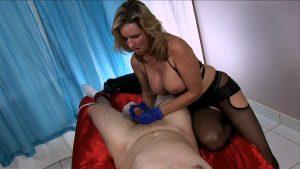 Mistress Jodi Milks A Restrained Young Man With Latex Gloves – Jodi West