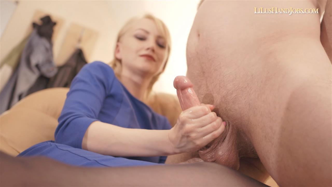Sexy Secretary HandJob_Cum on Pantyhose – I JERK OFF 100 Strangers hommme HJ – Lilu