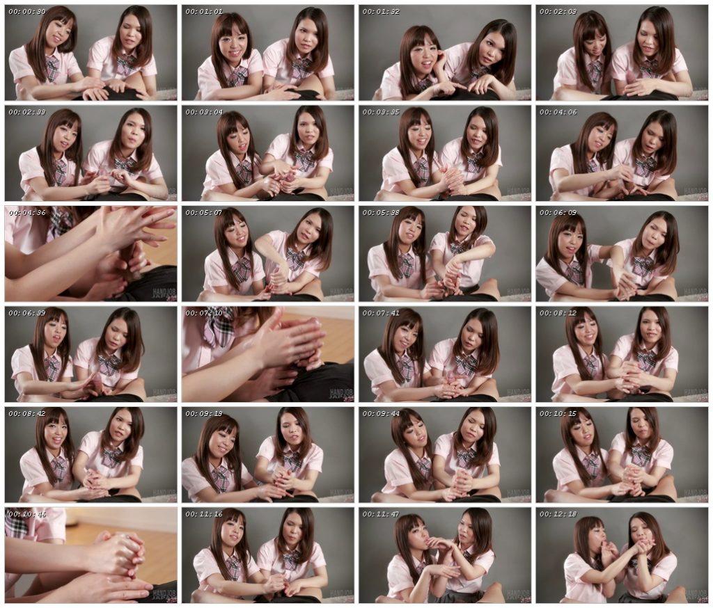 Ena Nishino and Momo Momoi's Double Handjob - Handjob Japan_scrlist