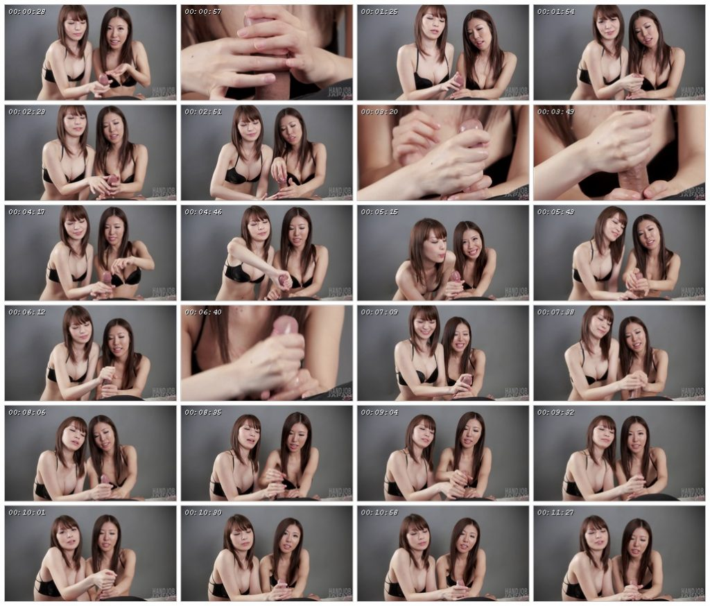 Sakura Aoi and Rin Miura's double handjob - Handjob Japan_scrlist