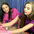 Teaching new Nurse Carolina to empty balls surprise facial – Primal's HANDJOBS – Carolina Sweets, Avi Love