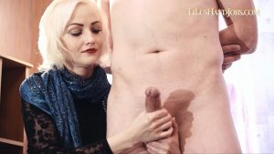 Ruined Home HandJob_ wearing Long Blue Scarf – I JERK OFF 100 Strangers hommme HJ – Lilu