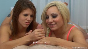 2 Hotties Stroke Your Cock – SilverCherrys Handjobs With a Twist