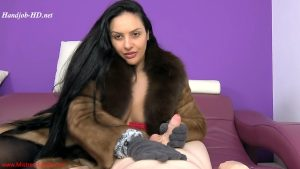 Fluffy gloves for ruined orgasms – Mistress Ezada Sinn MP4