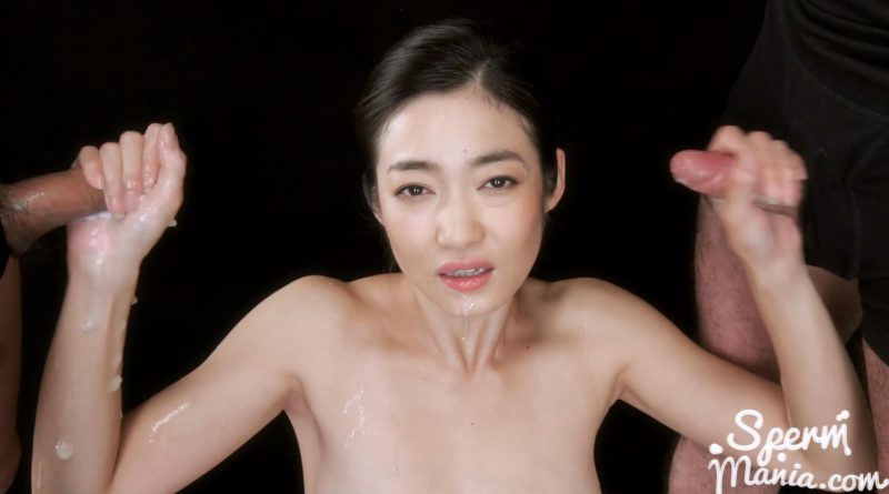 Ryu Enami's Cum Covered Group Handjob – Sperm Mania