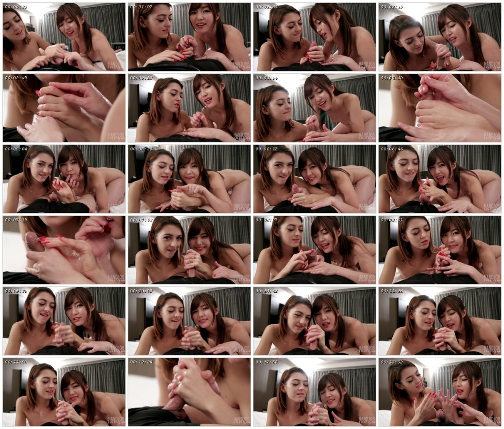 Shino Aoi and Tera Link Double Handjobs - Handjob Japan_scrlist