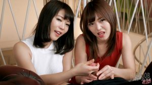 Yui Kawagoe and Shino Aoi Double Handjobs – Handjob Japan