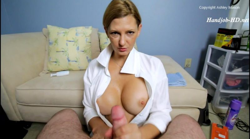 Collar Up Hand Job – Ashley Mason