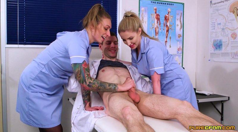 Foreskin Practice – Pure CFNM – Ava Austen, Georgie Lyall