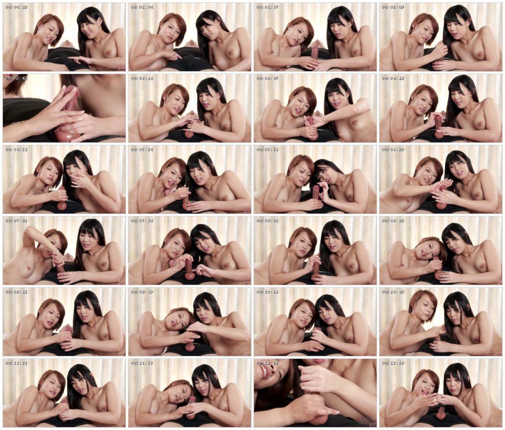 Kotomi Shinosaki & Ayumi Kuroki's double handjob - Handjob Japan_scrlist