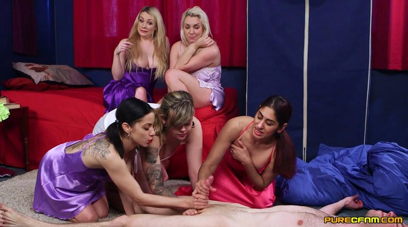 No Men Allowed – Pure CFNM – Madison Stuart, Myla Elyse, Penny Lee, Sahara Knite, Victoria Summers
