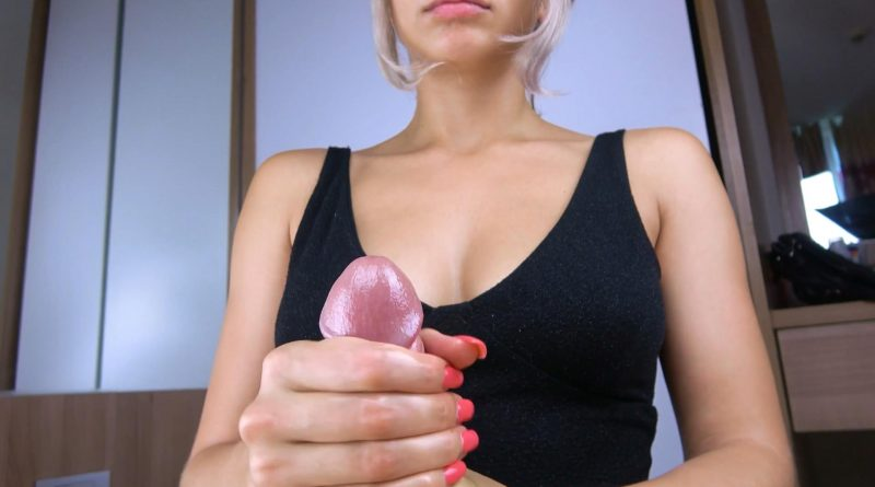 Teen with Oil Tits Handjob and Cum Boobs – Kriss Kiss