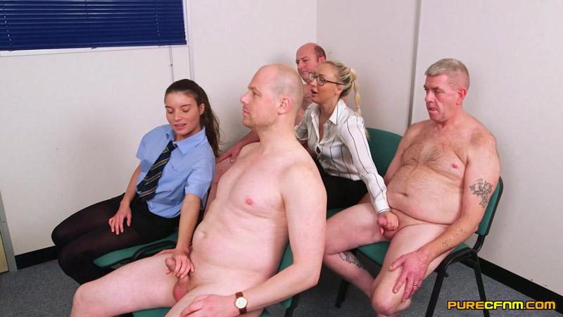 Imagine Them Naked – Pure CFNM – Amber Deen, Anita Bellini, Charlie Ten