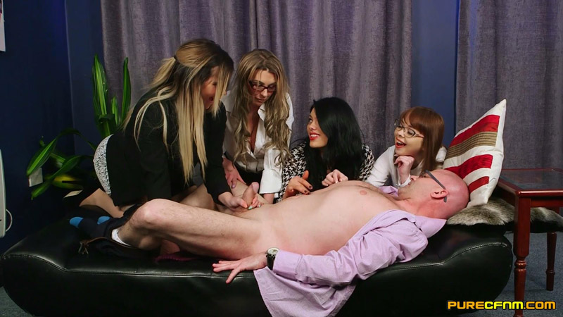 Meet Her Boss – Pure CFNM – Cherry English, Lola Lee, Roxi Keogh, Sapphire Rose