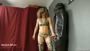 Military girl ruined orgasms to her prisoner – Lady Kara
