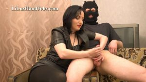 Double FemDom Leather HandJob_ Ruined Cum – I JERK OFF 100 Strangers hommme HJ – Lilu