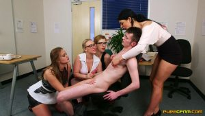 Relax At Work – Pure CFNM – Amber Deen, Honour May, Mellisa Medisson, Sapphire Rose 1080p