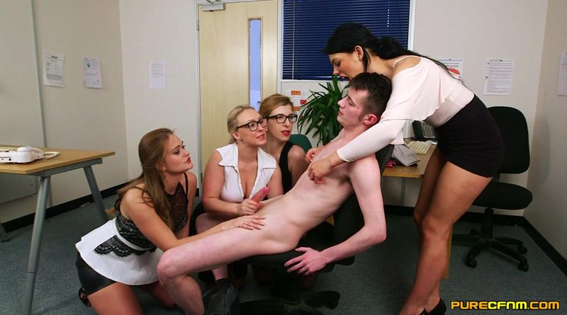 Relax At Work – Pure CFNM – Amber Deen, Honour May, Mellisa Medisson, Sapphire Rose
