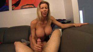 Mom milks my cock before my date – Taboo POV – Alexis Fawx