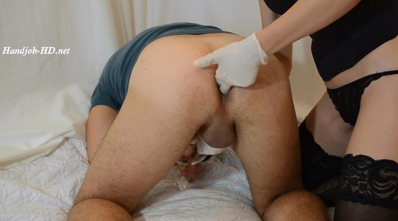 Prostate Milking with Gloved Handjob – DirtyLady