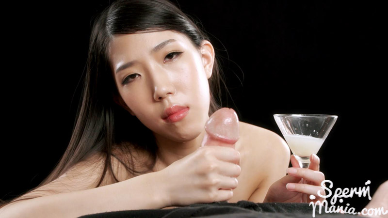Rio Kamimoto Collects Lots Of Cum For An Extra Sloppy Handjob Sperm Mania