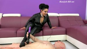 Spiky boots ballbusting – Mistress Ezada Sinn
