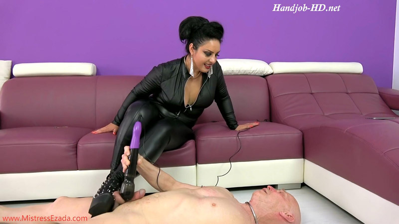 Spiky boots ballbusting - Mistress Ezada Sinn