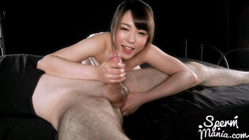 Yui Kawagoe Uses A Group of Guys' Cum For One Messy Handjob - Sperm Mania