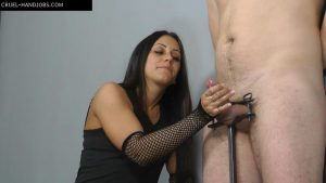 Aroused and tied – Cruel Handjobs – Mistress Sophie