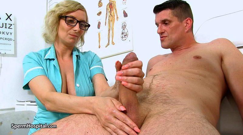 Big boobs Euro Milf doctor Christa clinic blowjob – Sperm Hospital
