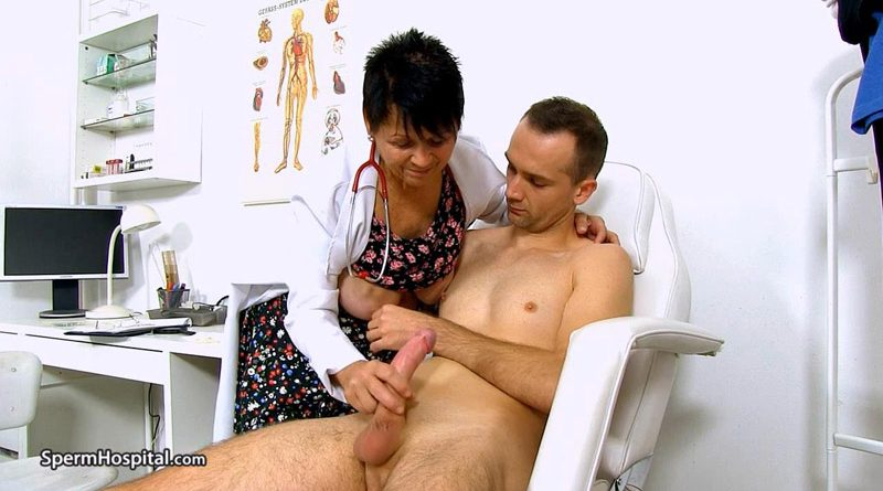 Big natural boobs doctor gilf Elma prostate exam – Sperm Hospital