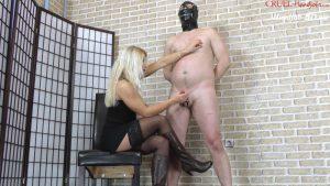 Bondaged balls milking – Cruel Handjobs – Mistress Zita