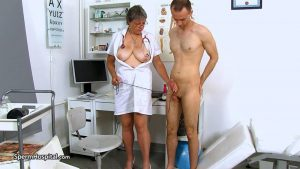 Busty uniform lady Doris ball bondage therapy – Sperm Hospital