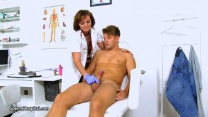 Czech doctor lady Rosa big penis tugjob at hospital – Sperm Hospital