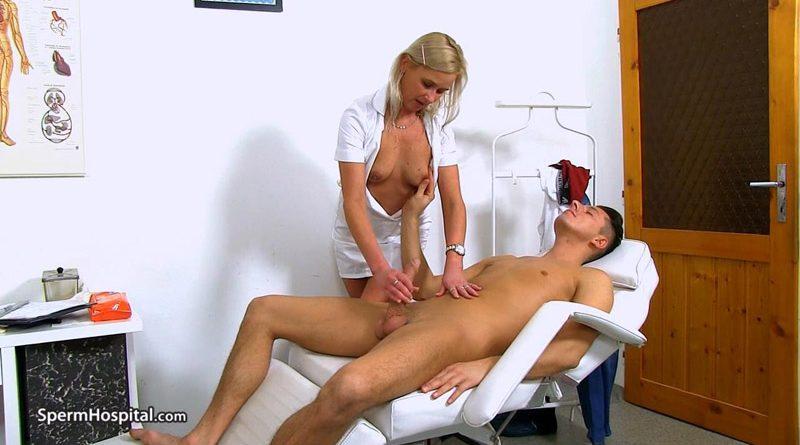Hot legs Euro MILF doctor Bruna gets cum on tits – Sperm Hospital