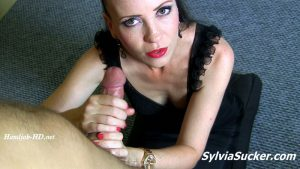 Rest in My Hands Sweetie! Sexiest Handy Treatment with CIM Cumshot and Long Tongue Cumplay before Swallow of the Big Load at the Happy Ending. POV – Sylvia Chrystall