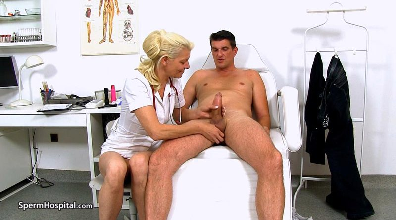 Skinny blonde lady doctor Sela sucking fat cock – Sperm Hospital