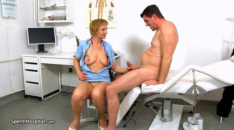 Cock sucking at sperm clinic with lady doctor Reba – Sperm Hospital