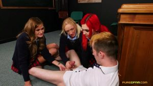 Schoolgirl Curiosity – Pure CFNM – Amber Deen, Honour May, Roxi Keogh 1080p