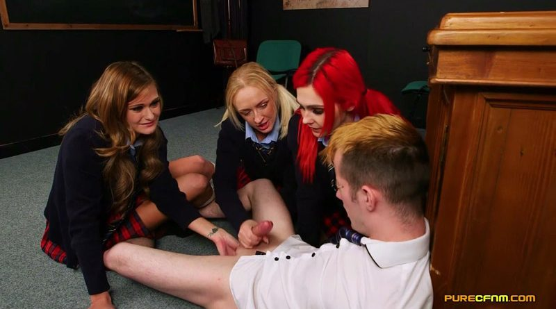 Schoolgirl Curiosity – Pure CFNM – Amber Deen, Honour May, Roxi Keogh