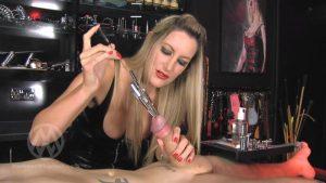 Extreme urethral multi sounding – Mistress Nikki Whiplash