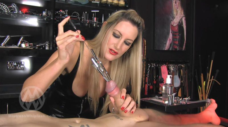 Extreme urethral multi sounding – Mistress Nikki Whiplash