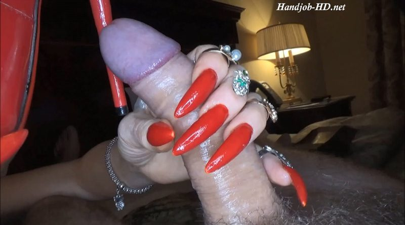 Wanking With Long Red Fingernails – Fetish Lady Imperatriza