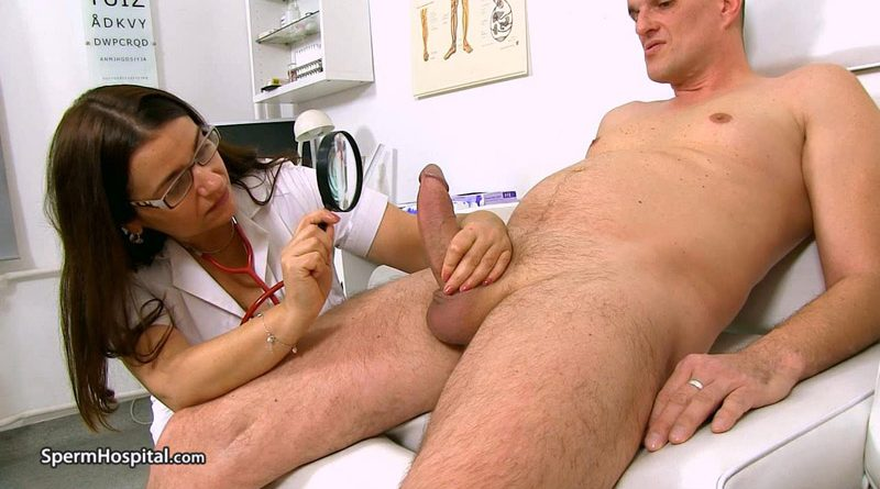 Cum on huge natural breats feat. doctor lady Romana – Sperm Hospital