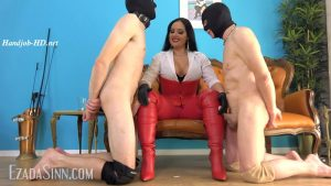 Cumming over My red leather boots contest – Mistress Ezada Sinn MP4