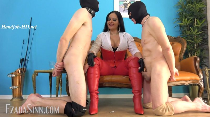 Cumming over My red leather boots contest – Mistress Ezada Sinn