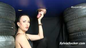 Milking Straight into my Mouth! My Very First Milking Table Session! Close Up – Sylvia Chrystall