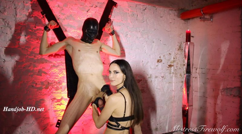 Punching the cum out of his balls – Extreme Ball Abuse – MistressFirewolf