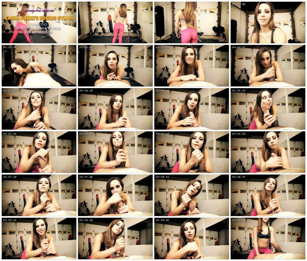 Sasha Foxxx's Edging Gym Jerk Off – Bratty Foot Girls_scrlist